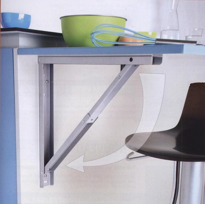 Table de cuisine rabattable maison design - Table cuisine escamotable ...