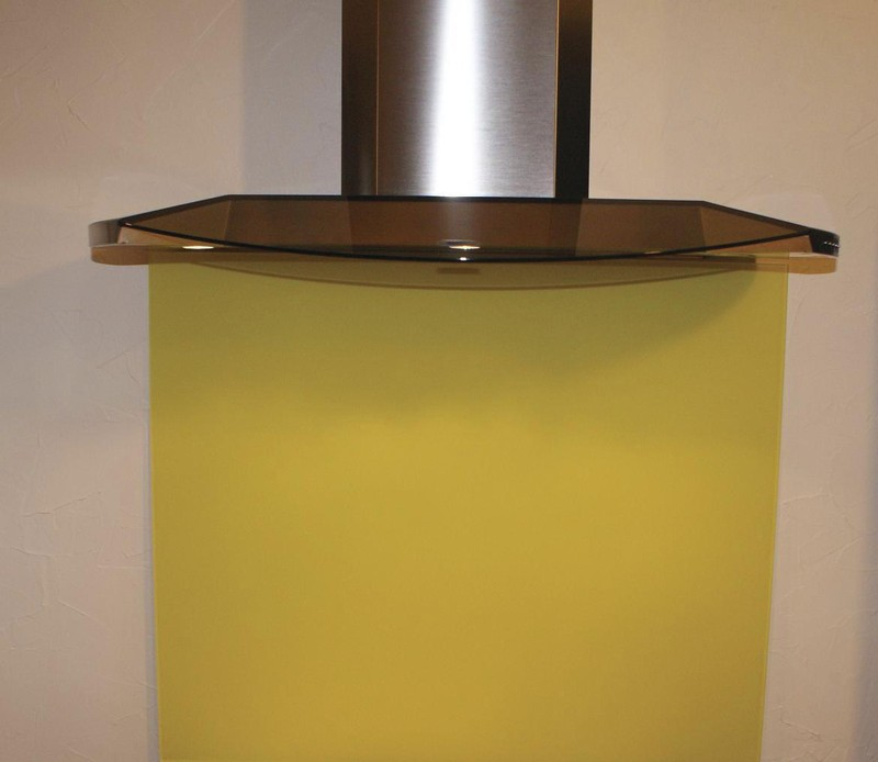 fond de hotte cr dence luisiglass jaune souffre cuisines laurent. Black Bedroom Furniture Sets. Home Design Ideas